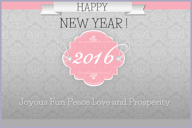 Peace Love Joy and Prosperity New Year 2016